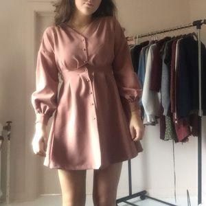 Mauve Dress w/ Bell Sleeves